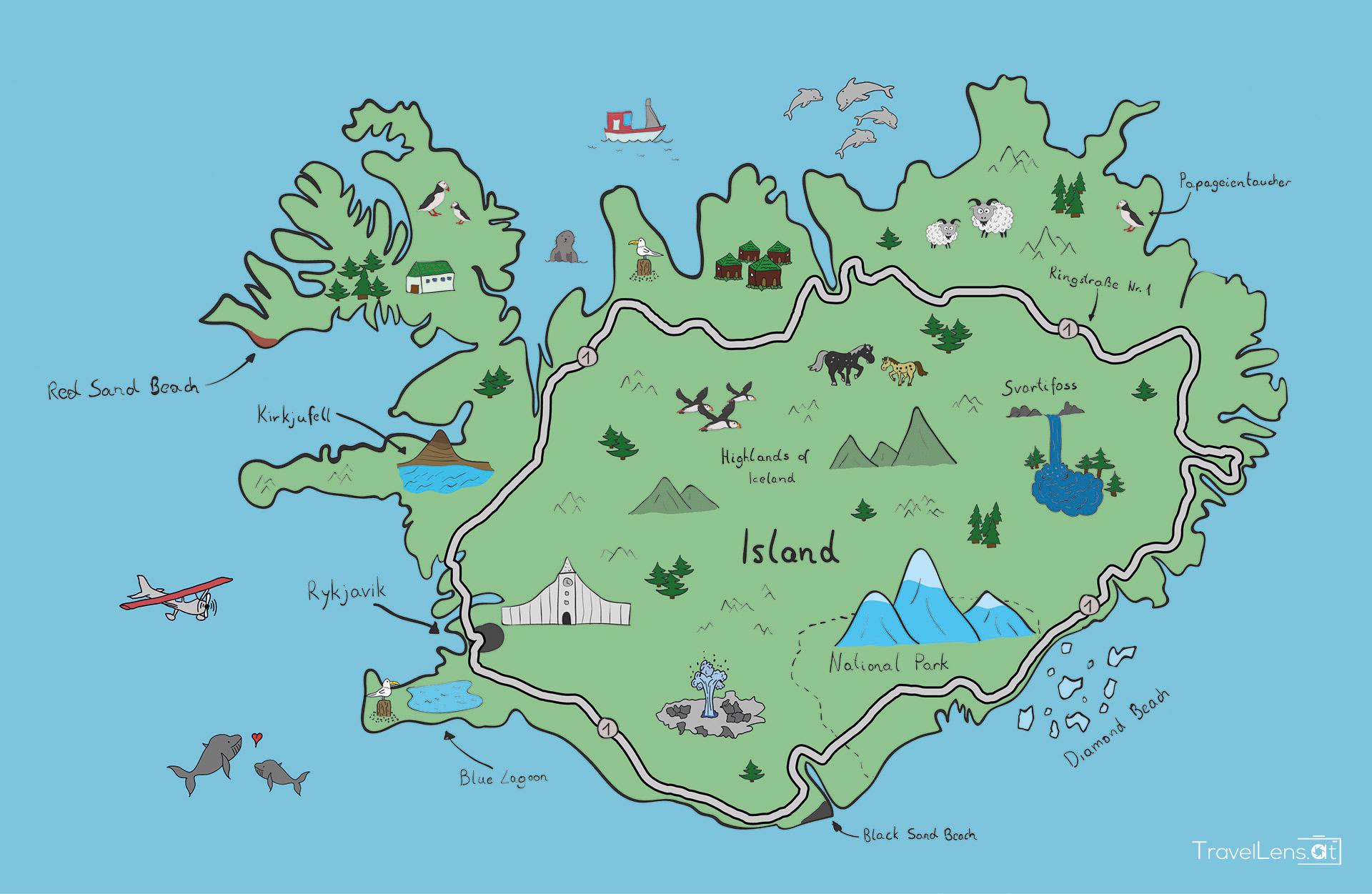 Karte Island Flugzeugwrack.Island 2019 Travellens At