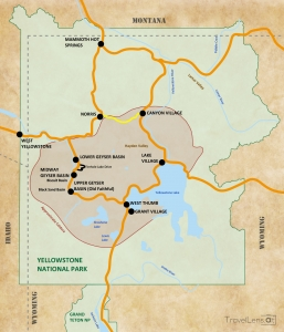 Map Yellowstone National Park - TravelLens.at