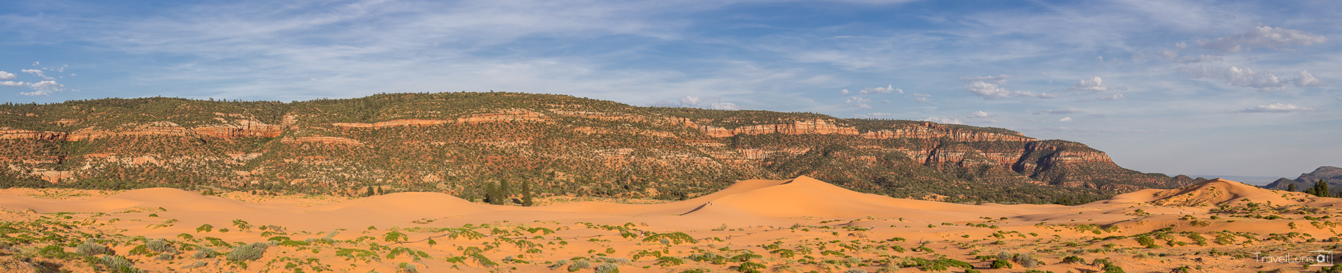 Panorama from Coral Pink Sand Dunes